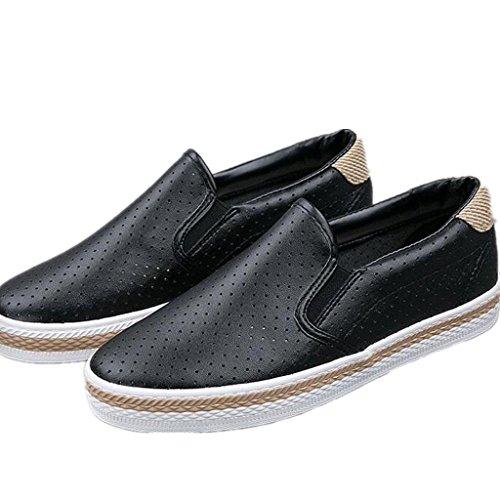 Simple Cuero Movimiento 36 Blanco 36 Cómodo Señora Zapatos Zapatos Placa XIE BLACK Ocio Estudiantes Negro Red Diario XSqBEn