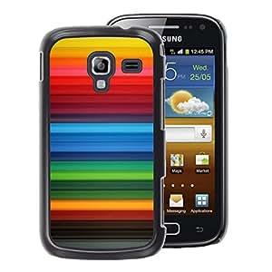 A-type Arte & diseño plástico duro Fundas Cover Cubre Hard Case Cover para Samsung Galaxy Ace 2 (Stripes Background Rainbow Gay Red)