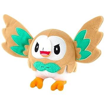Pokemon peluches animales de peluche//Peluche bauz con ausgestreckten alas en vuelo/rowlet