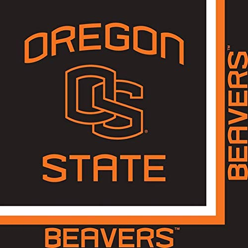 Oregon State Beavers NCAA Napkins Football Game Day Sports Themed College University Party Supply NFL Napkins for Beverage for 20 Guests Orange Black Paper Napkins]()