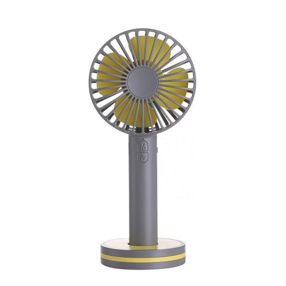 gris  JKXJL Ventilateur Mini Ventilateur portatif Rechargeable portatif avec Ventilateur de Main USB de Batterie du Miroir de Maquillage 2000mAh avec Base magnétique