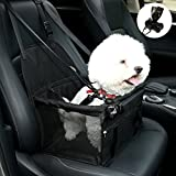 NO Collapse Dog Car Booster Seats Safety Seat Car Seat Cover with Dog Seat Belt Non Slip Carrier,Waterproof, Breathable, Portable, Foldable for Small Pets Animals Cat Puppy Black