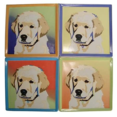 Bill Tosetti Yellow Lab Coasters, Set Of 4 from Westland Giftware