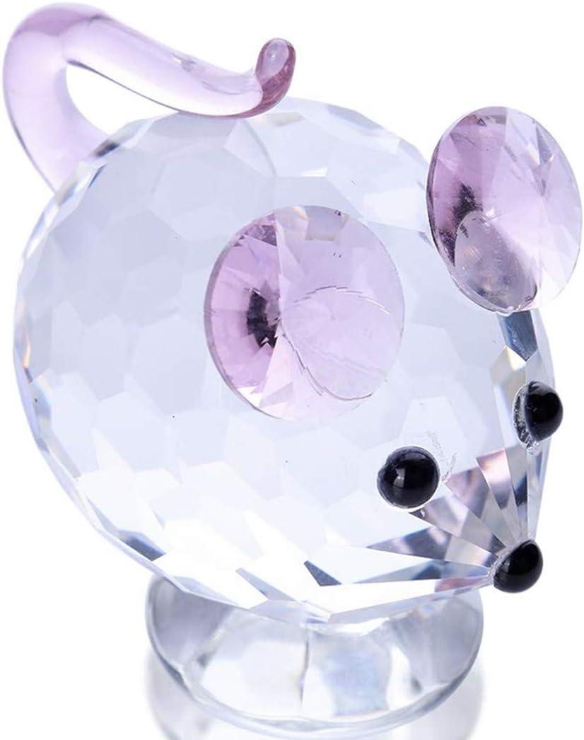 YU FENG Adornos de Animales de Vidrio de Figurillas de Mariquita para Decoraci/ón,Figuras de Vidrio,Regalo de Cristales