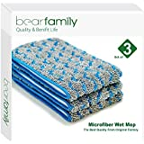 Microfiber Mop 18inch Wet Mop Refill For Hardwood Floors Gray Set of 3 by Bear Family (3)