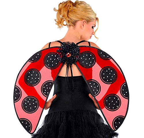 AMSCAN Ladybug Wings Halloween Costume Accessories for Adults, One Size (Ladybug Accessories)
