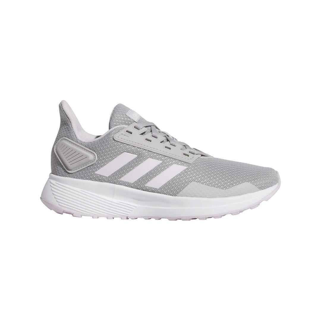 adidas Unisex Duramo 9 Running Shoe, grey/aero pink/white, 3 M US Little Kid by adidas