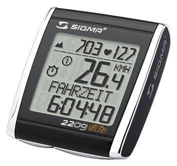 Sigma BC2209MHR - Ciclocomputador con pulsómetro, Color Negro ...