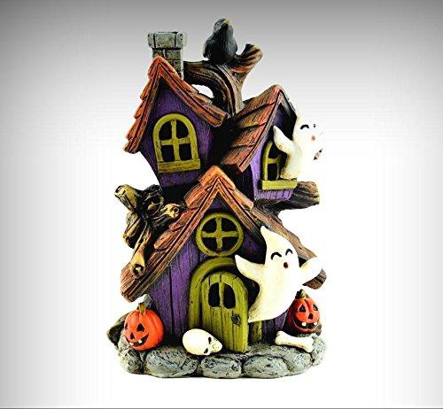 (Miniature Dollhouse Fairy Garden Halloween LED Lighted Haunted House MW262 - My Mini Fairy Garden Dollhouse Accessories for Outdoor or House Decor)