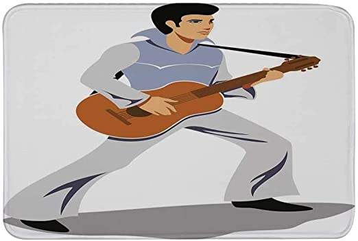 AoLismini Elvis Presley Decor Alfombrilla Antideslizante, Músico ...