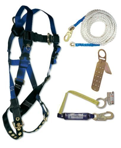 - Falcon Safety (OS) 8595A Fall Tech Contractor Harness with Roofer's Kit, Universal Fit, 4 Piece