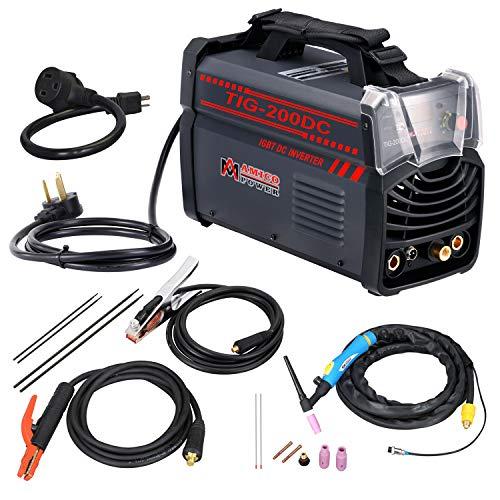 Amico TIG-200 Amp TIG Torch, Stick ARC DC Inverter Welder, 110V & 230V Dual Voltage Welding