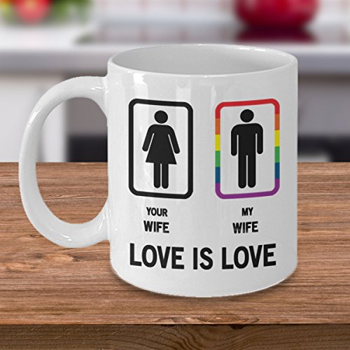 Gay's true wife - LGBT pride - True color - Love for wins - Love is love - Best gift for your husband