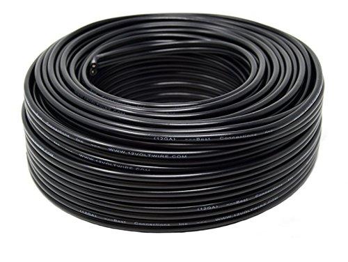 Speaker Wire 12 Gauge 100 Feet Black Stranded 2 Conductor St