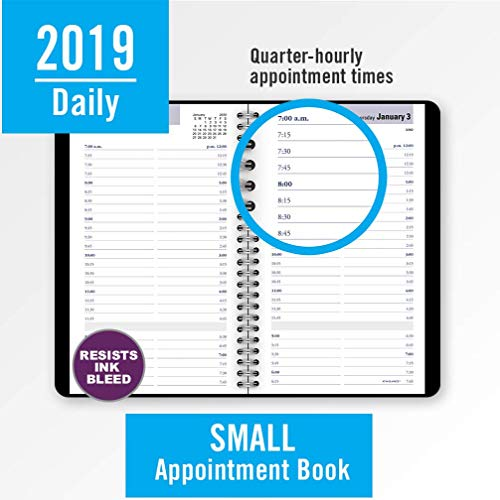 at a glance 2019 daily planner appointment book dayminder 5 x 8