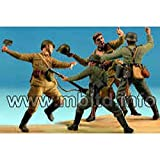 Master Box Hand to Hand Combat German and Russian Infantry Eastern Front 1941-42 (4) Figure Model Building Kits (1:35 Scale)