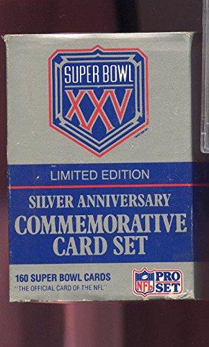 (1990 1991 ProSet Pro Football Complete Box Set Super Bowl XXV Silver)