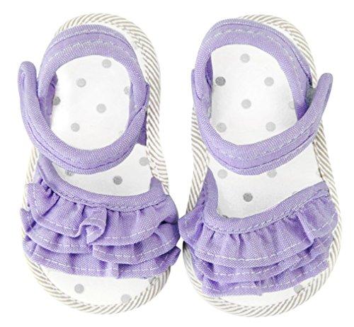 axy Baby Mädchen Stoff Sommer Sandalen Krabbelschuhe Babyschuhe 0 bis 12 Monate - Little Princess - Lavander