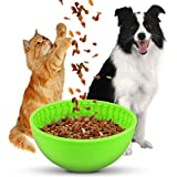 YogaHola Dog Lick Bowl, Dog Slow Feeder Bowl for Boredom and Anxiety Reduction;Dog Fun Feeder Perfect for Entertainment, Gree