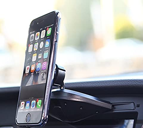 Bestrix Universal CD Slot Magnetic Smartphone Car Mount Holder for iPhone 7, 6, 6S Plus 5S, 5C, 5, 4S, 4, Samsung Galaxy S3 S4 S5 S6 S7 S8 Edge/Plus Note 2 3 4 5 LG G3 G4 G5 G6 all (Iphone 4 Metal Case With Screws)