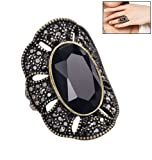 Faceted Jet Ring By Avon