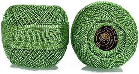Ganchillo hilo de algodón con hilo metálico tamaño 20 para tejer ...