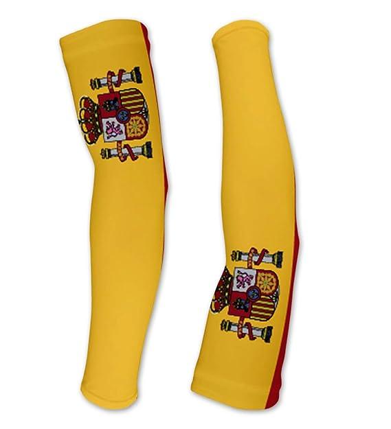 Amazon.com: Bandera de España de compresión mangas brazo ...