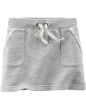 Baby Girl's French Terry Skirt, Grey, 12m!