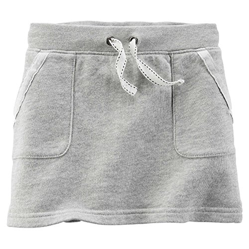 Carter's Baby Girl's French Terry Skirt, Grey, 12m