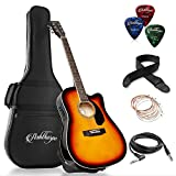 Best Acoustic Electric Guitars - Ashthorpe Full-Size Cutaway Thinline Acoustic-Electric Guitar Package Review