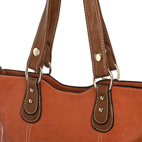 UTAKE Handbags for Women Top Handle Shoulder Bags PU Leather Tote Purse Meduim Size Orange by UTAKE (Image #3)