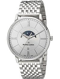 Men's 'Eliros' Quartz Stainless Steel Casual Watch, Color:Silver-Toned (Model: EL1108-SS002-110-1)