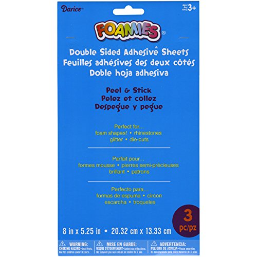 - Darice Foamies Double-Sided Adhesive Sheets (3/ Pack), 8.5