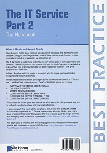 IT Service Part 2: The Handbook (Best Practice Series)
