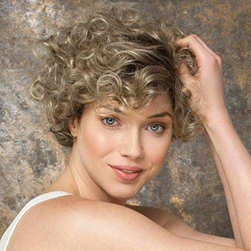 Euone  Wig, Fashion Woman Blonde Synthetic Wig Ladies Short Curly ()