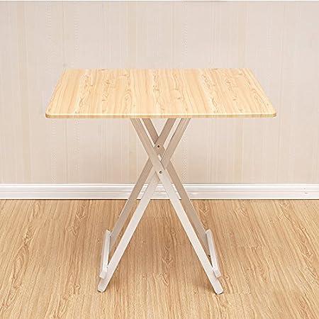 mesa plegable Mesa de Comedor Cuadrada portátil Mesa de Comedor ...