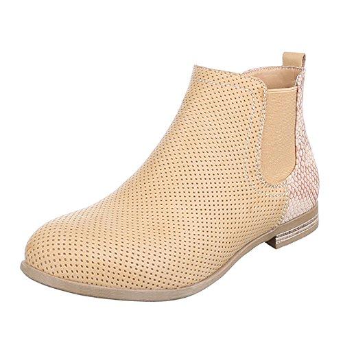 Design Chelsea Ital Women's Camel Boots FqgHOd