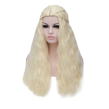 "28"" 70CM Peluca sintética de pelo largo rizado trenzado cosplay fiesta peluca de disfraz Madre"