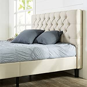 Zinus Upholstered Modern Classic Tufted Platform Bed, Queen
