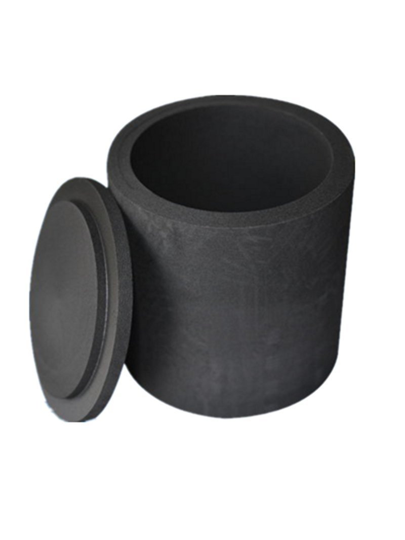 Graphite Crucibles Black Cup Foundry Clay Torch Melting Casting (50X60X60mm)