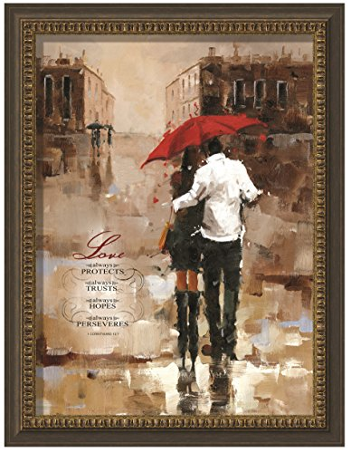 Carpentree Love Always Protects Framed Art, 27.5 x 35.5'' by Carpentree