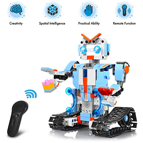 AOKESI Remote Control Robot DIY Building Blocks Educational Kit Engineering STEM Learning Toys Intelligent Gift for Kids (351 Pieces) by AOKESI (Image #2)