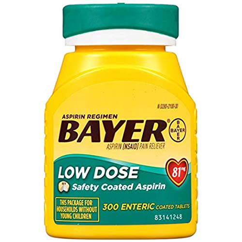 Bayer Aspirin Regimen, Low Dose (81 mg), Enteric Coated, 4 - Pack by Bayer