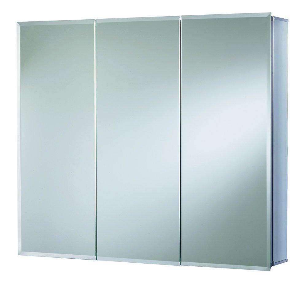 Croydex WC102322AZ Westbourne Triple Door Tri-View Cabinet 30-Inch x 36-Inch, White