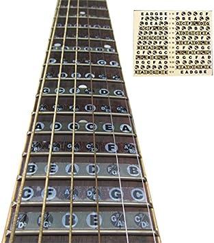 LaDicha 1Pc Acorde De La Guitarra del Diapasón Pegatina Musical ...