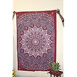 Handicrunch Twin Mandala Star Tapestry Wall Hanging Hippi Tapestry Wall Décor