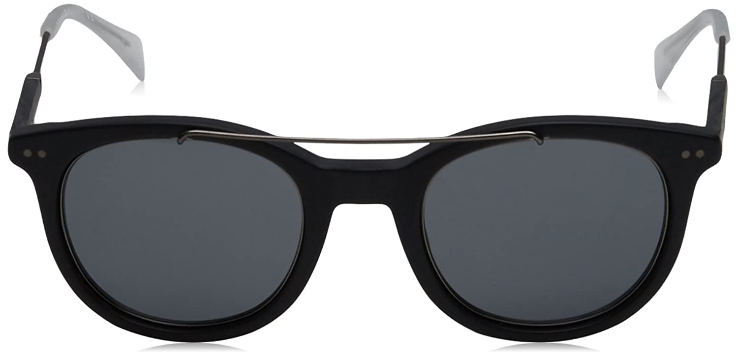 Unisex-Adults TH 1348/S 72 Sunglasses, Bluee Ruthenium, 49 Tommy Hilfiger