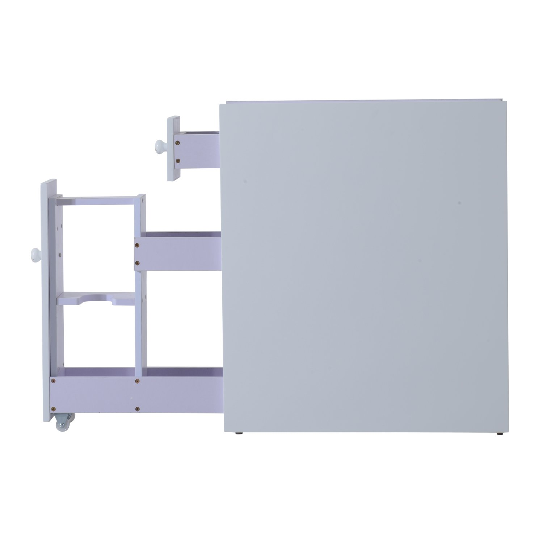 Amazon Hom Slide Out Bathroom Floor Cabinet White