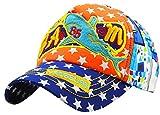 JIEEN Summer Thin Pattern Multicolor Baseball Cap for Boys Girls Lightweight Quick Dry Sun Cap (Orange)
