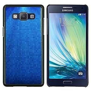 TECHCASE---Cubierta de la caja de protección para la piel dura ** Samsung Galaxy A5 ( A5000 ) 2014 Version ** --Azul Pixel ladrillo